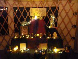 Lit Altar